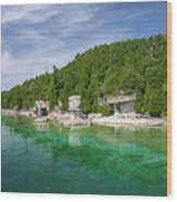 Flowerpot Island - Georgian Bay, Ontario Wood Print