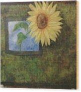 Flowerpower Wood Print