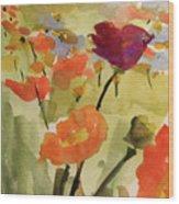 Poppy Hill Wood Print