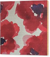 Poppy Happiness Wood Print