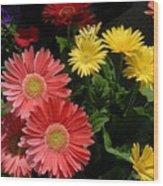 Flowers 728 Wood Print