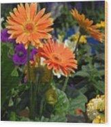 Flowers 730 Wood Print