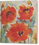 Poppies Wanted Wood Print