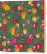 Flowers Afloat Wood Print