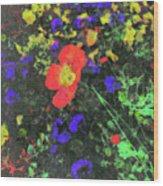 Flowers After Mass Wood Print