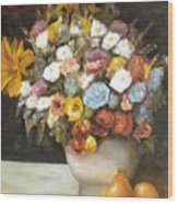 Flowers After Renoir Wood Print