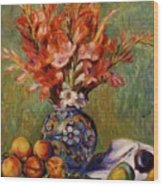 Flowers And Fruit 1889 Wood Print