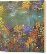 Flowers And Grasses IIi Wood Print