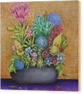 Flowers Base Wood Print