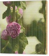 Flowers Behind The Screen Wood Print