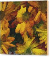 Flowers Confusion Wood Print