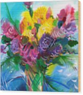 Flowers For My Jesus Wood Print