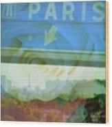 Flowers For Paris Wood Print