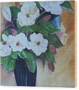Flowers For The Table Wood Print
