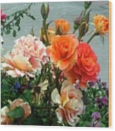 Flowers For U Wood Print