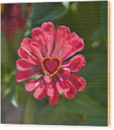 Flower's Heart Wood Print