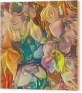 Flowers I Wood Print