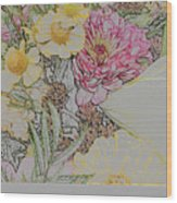 Flowers In A Bunch Wood Print
