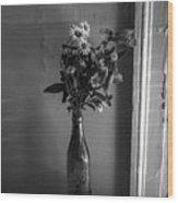 Flowers In A Peculiar Vase Wood Print