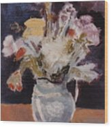 Flowers In A Pitcher Wood Print