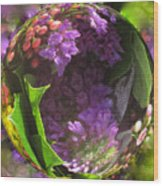 Flowers In A Raindrop Wood Print