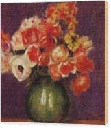 Flowers In A Vase 1901 Wood Print