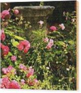 Flowers In Garden In Venice Wood Print