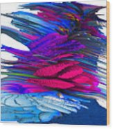 Flowers In Motion Wood Print