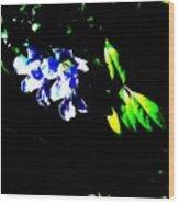 Flowers In The Dark Wood Print