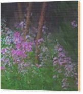 Flowers In The Woods Wood Print