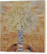 Flowers In Vase-leisure Wood Print