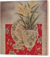 Flowers In Vase-nightngales  Wood Print