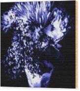 Flowers In Velvety Tones Wood Print