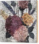 Flowers In Winter Wood Print