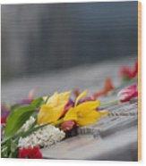 Flowers Memory Wood Print