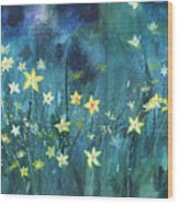 Flowers N Breeze Wood Print