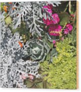 Flowers Of Boca II Wood Print