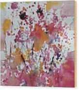 Flowers Of Field Wood Print
