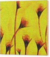 Flowers Of Love  - Van Gogh -  - Pa Wood Print