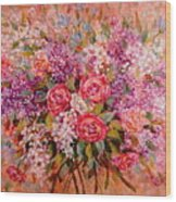 Flowers Of Romance Wood Print