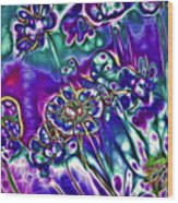 Flowers Of The Distant Planet Wood Print