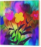 Flowers Of The I-magi-nation Wood Print