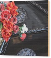Flowers On Gondola In Venice Wood Print