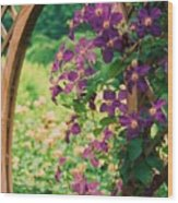 Flowers On Vine  Wood Print
