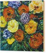 Flowers Painting #191 Wood Print