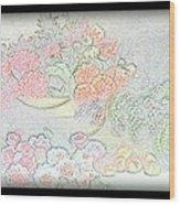 Flowers Painting  Wood Print