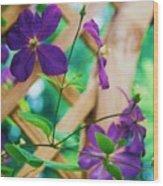 Flowers Purple Wood Print