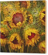 Flowers - Sunflowers - You're My Only Sunshine Wood Print