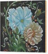 Flowers Surreal Wood Print