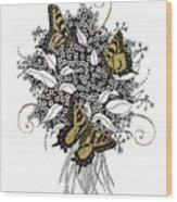 Flowers That Flutter Wood Print